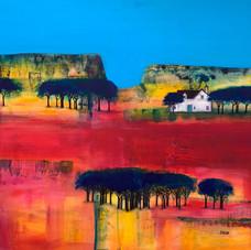 'Blue Sky Scarlet'