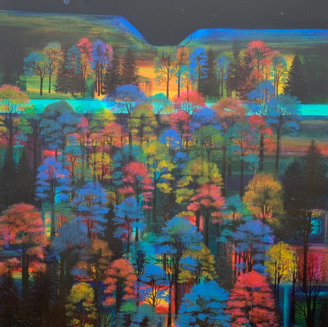 'Dancing Trees Under The Milky Way'