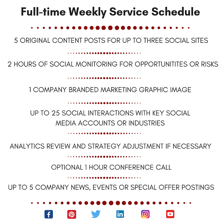 SMM FULL-TIME Weekly Service Schedule Re
