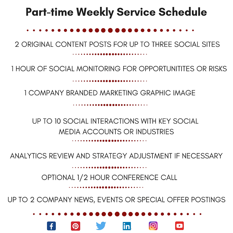 SMM PART-TIME Weekly Service Schedule Re