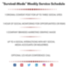 SMM SURVIVAL MODE Weekly Service Schedul