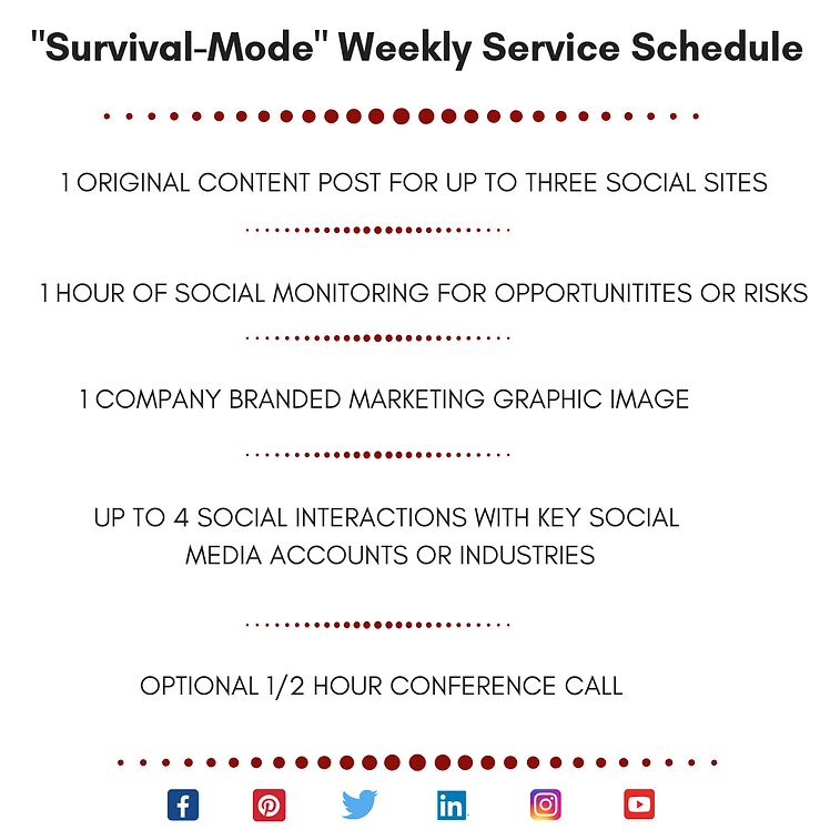 SMM SURVIVAL MODE Weekly Service Schedul