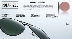 polarized, non-glare lenses
