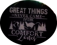 Hand-made Decorative Wall Art - Great Things Never Came from Comfort Zones