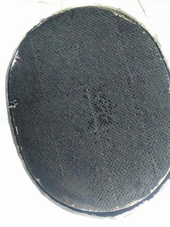 Забитый сажевый фильтр глушителя