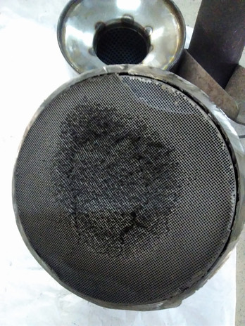 Забитый катализатор авто