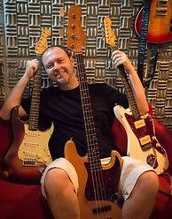 instrumentos musicais do estúdio