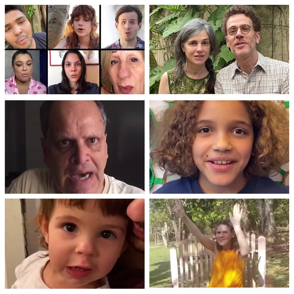 Nando Reis  e familia