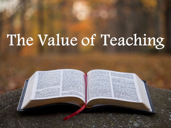 The Value of Teaching