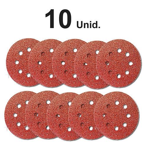 Disco De Lixa Roto Einhell E Compatíveis 125 Mm 10 Unid
