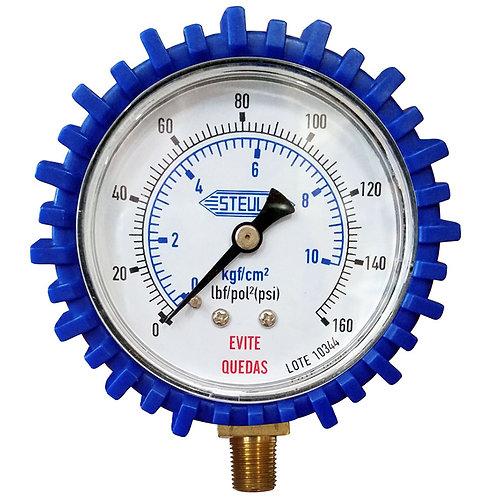 Manômetro Para Calibrador Pneus Ms13 Analóg 160 Psi Steula