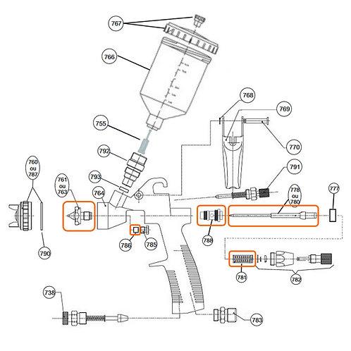 Kit De Reparo Para Pistola Bc77-08 Original Steula