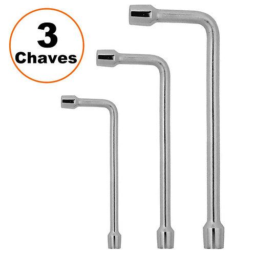 Kit Chave Biela Stels Cromo Vanádio Sextavado 3 Peças