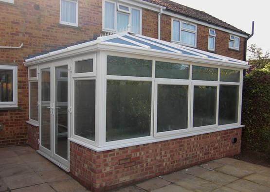 White brick conservatory