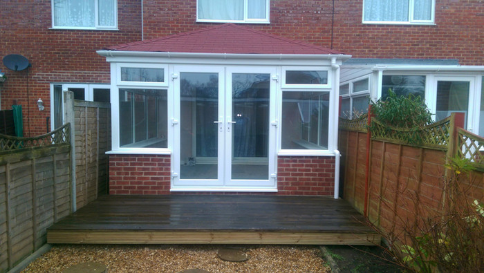Small rectangular conservatory