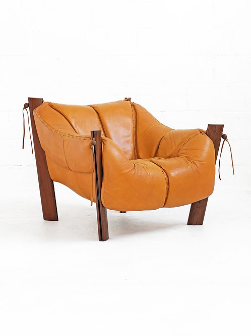 MP-211 Lounge Chair in Brazilian Rosewood by Percival Lafer for Móveis Lafer