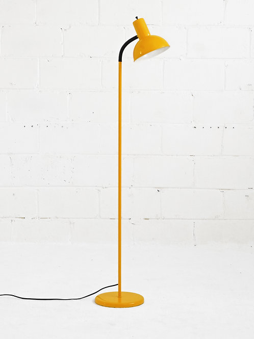 Vintage Gooseneck Floor Lamp in Mustard for Lyskaer