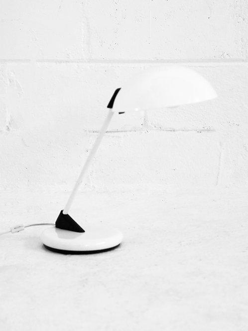 Post Modern Cantilevered Lamp in Plain White for Lightolier