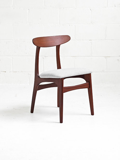 Afrormosia Teak Dining Chairs for R. Huber Co.