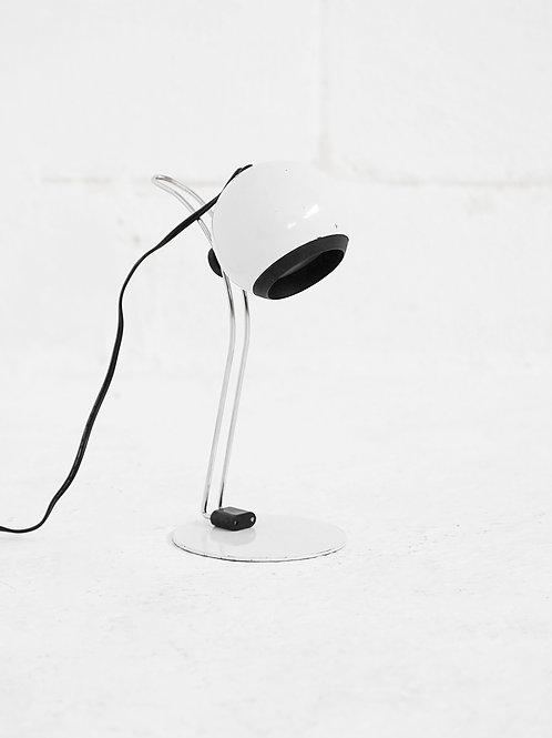 Post Modern Eyeball Desk Lamp in White
