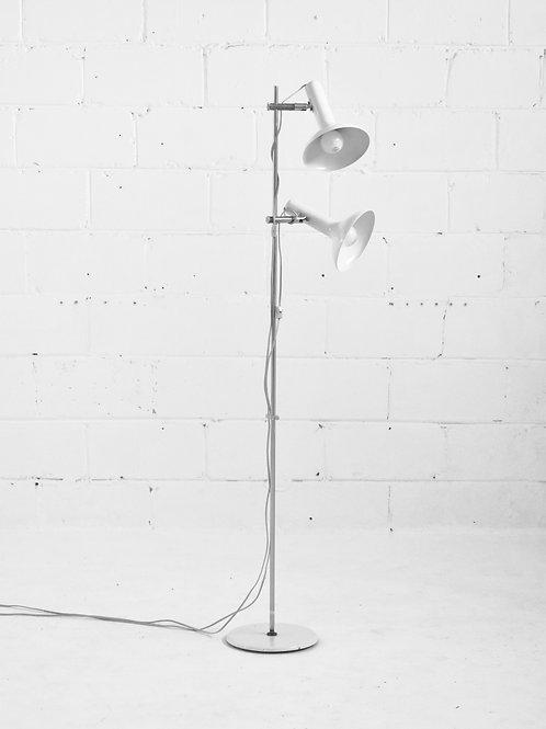 Scandinavian Double Head Floor Lamp in Ivory