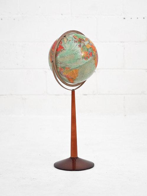 Vintage Standing Floor Globe