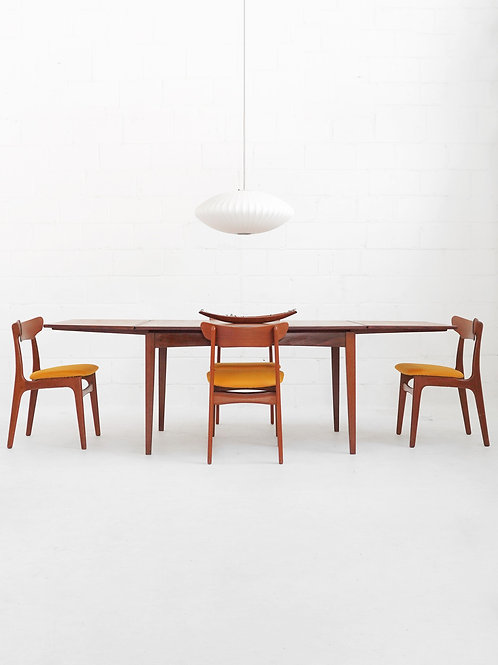 Teak Surfboard Dining Table with Extension Leaves
