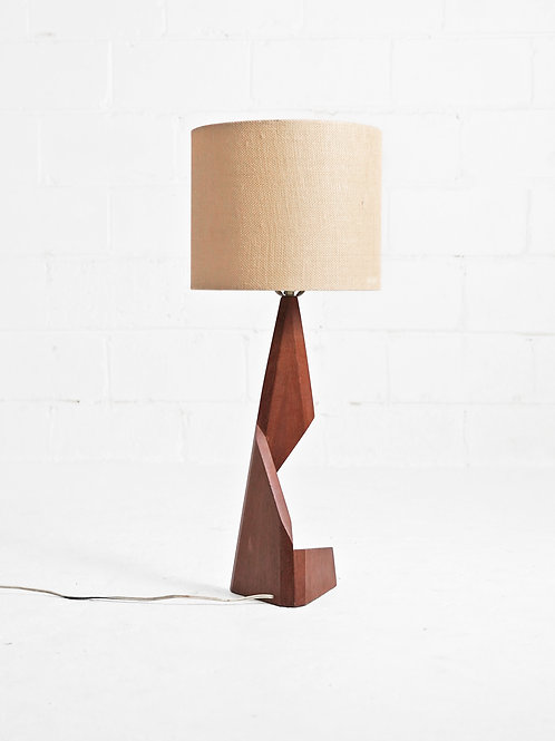 "Teak ""Zig Zag"" Table Lamp"