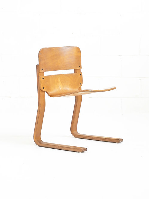 """Vintage Bent Ply MS-SC 1968 """"Roo"""" Chair by Thomas Lamb for Ambient Systems"""