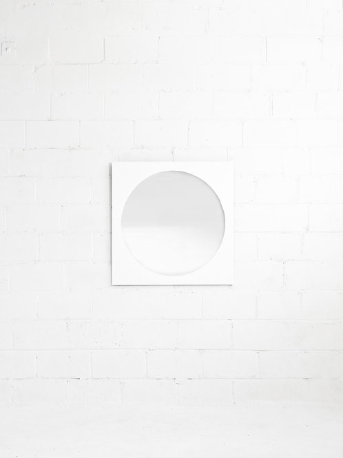 Atomic Wall Mount Mirror in White for Treco