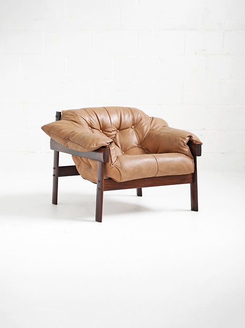 MP-41 Lounge Chair in Brazilian Rosewood by Percival Lafer for Móveis Lafer