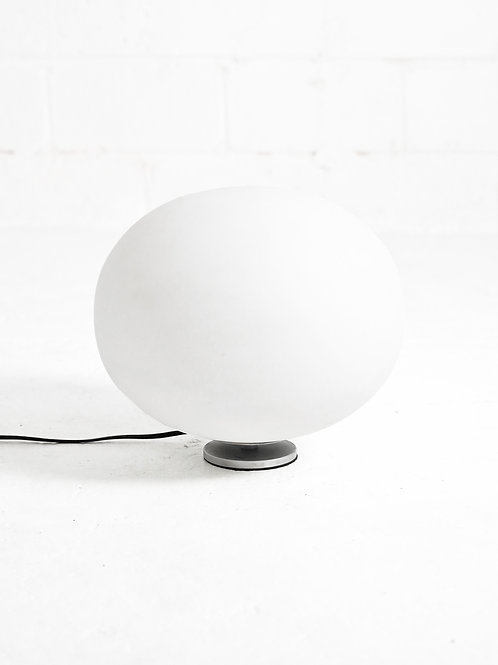 White Glass Bubble Lamp in the style of Laurel Lamp Co.