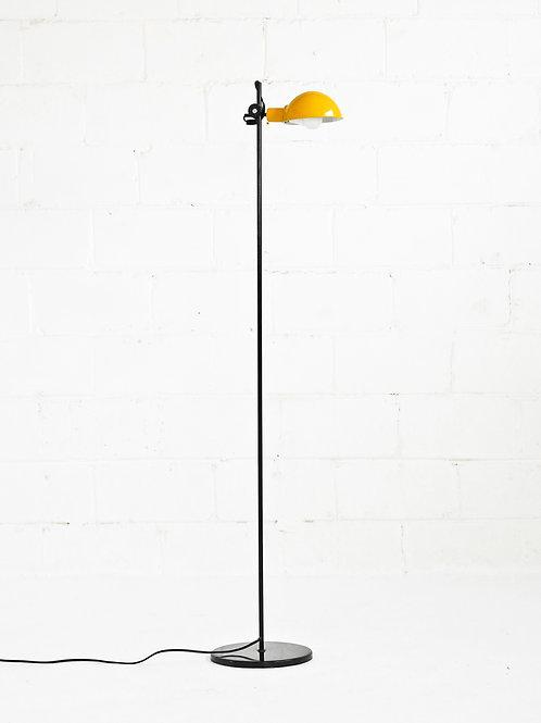 Vintage Post Modern Standing Floor Lamp in Yellow