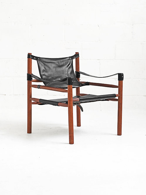Leather Safari Sling Chair in the style of Arne Norell for Norells AB