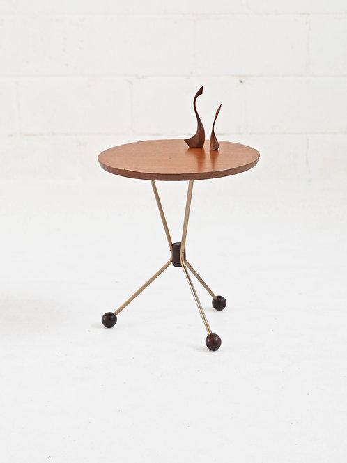 Teak Table in a Jar Side Table by Albert Larsson for Albert Tibro