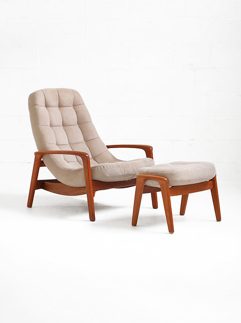 Teak Scoop Lounge Chair for R. Huber Co.