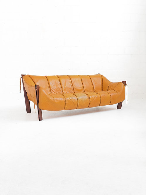 MP-211 Sofa in Brazilian Rosewood by Percival Lafer for Móveis Lafer