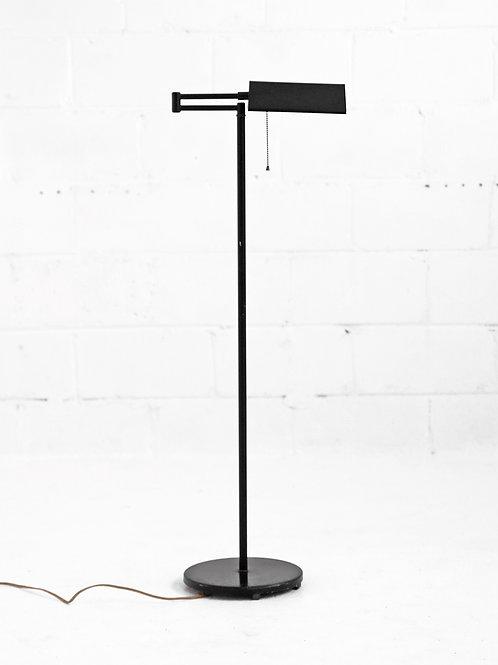 Vintage Adjustable Bent Neck Floor Lamp in Onyx for Rudson