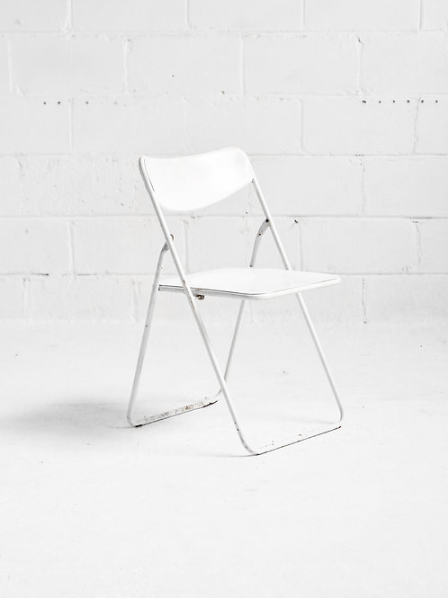 Vintage TED Chair in White by Niels Gammelgaard for IKEA