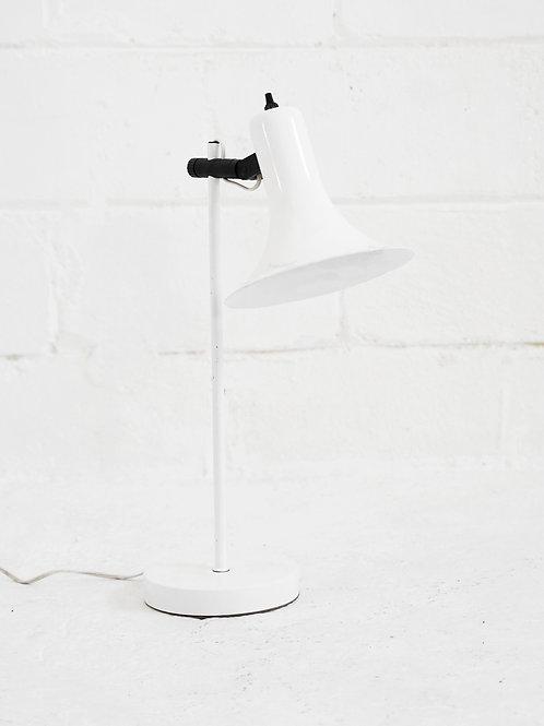 Vintage Desk Lamp in White for Lightolier