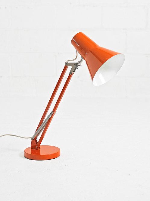 Vintage Desk Lamp in Orange for Lyskaer