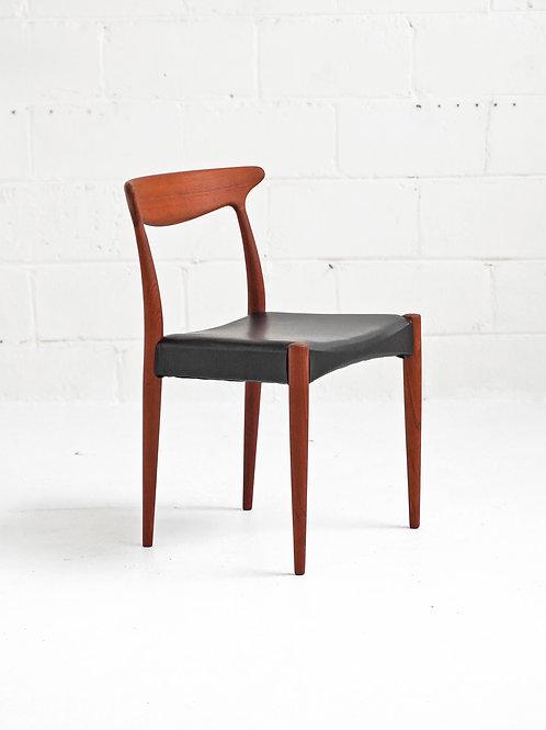 Set of 4 Danish Teak Dining Chairs by Arne Hovmand Olsen for Mogens Kold