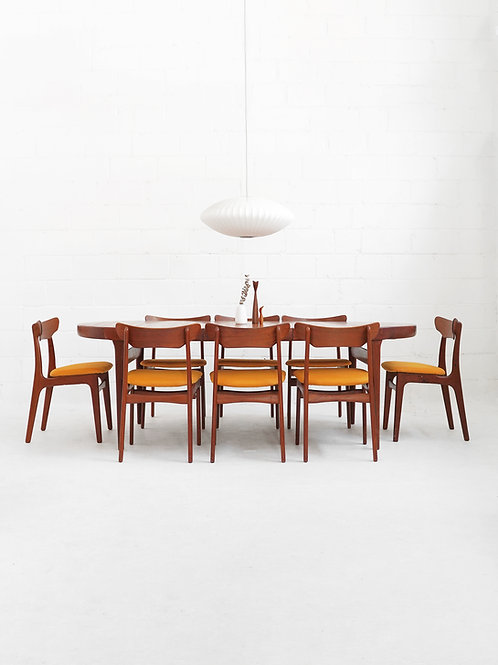 Danish Teak Dining Table with Extension Leaf by Ib Kofod-Larsen for Faarup