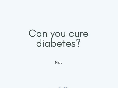 Can you reverse or cure diabetes?