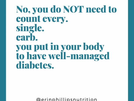 Is carb counting required for well-managed diabetes?