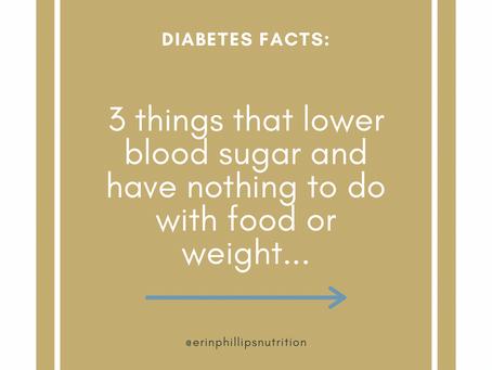 Three lesser-known ways to lower blood sugar