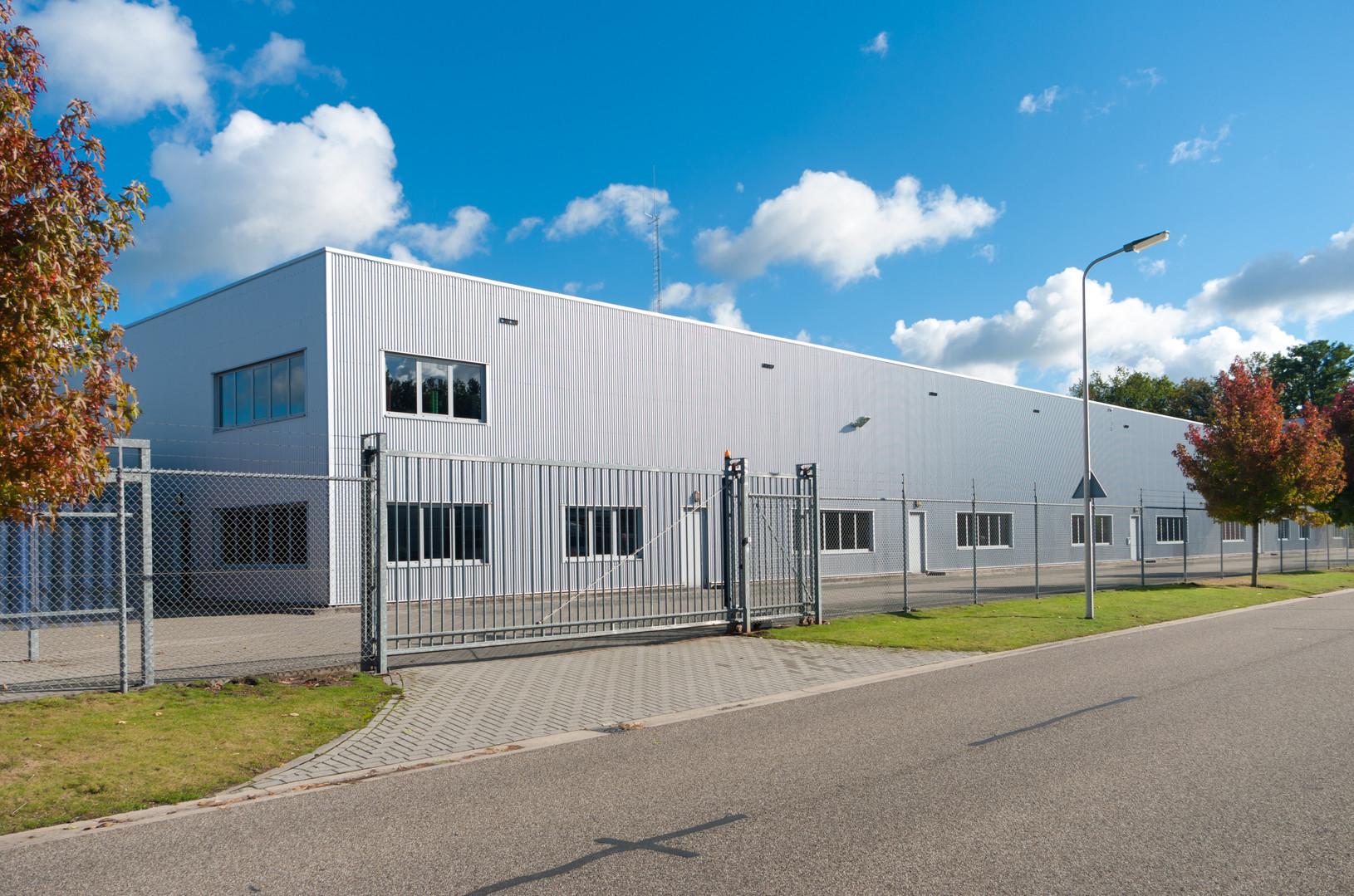 modern exterior of an industrial buildin