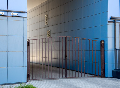 Gate repair at Waste Equipment Rentals & Sales