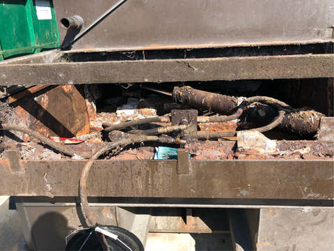 Compactor Before Cleaning