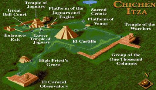 Chichen Itza facts, ancient Maya urban design, Maya pyramids and temples found in Chichen Itza, Yucatan, Mexico